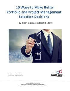 10 Ways to Make Better Portfolio & Project Selection Decisions