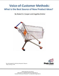 Voice-of-Customer Methods: What is the Best Source of New-Product Ideas?